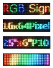 """LED Sign Full Color 25""""x 6.5"""" P10 Programmable Scrolling  Message Display"""