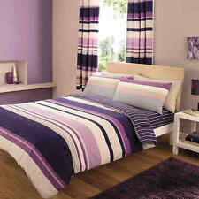 Contemporary Stripe Striped Duvet Cover Quilt Cover Bedding Single Double King