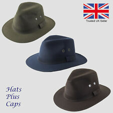 British Wax Cotton Failsworth Fedora Waterproof Fishing Walking Drifter Hat