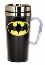DC Comics 17236 Batman Logo Insulated Travel Mug, 15 ounces, Black
