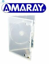 25 Single Standard Ecolite Clear DVD 14mm New Empty Replacement Amaray Case