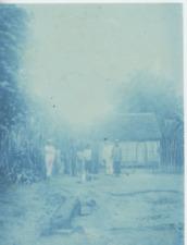 Madagascar, Colons français et indigènes, cca. 1895 Vintage print. cyanotype