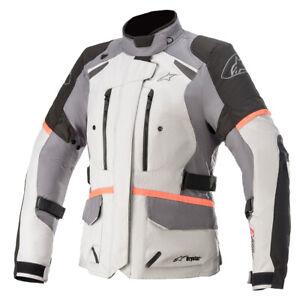 Alpinestars Stella Andes V3 Drystar Waterproof Motorcycle Motorbike Jacket Grey