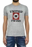 Dsquared2 T-Shirt Gris Homme Imprimé Graphique Mod.S71GD0495S22146857M