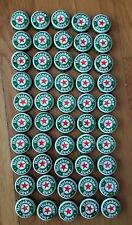 50 HEINEKEN BEER BOTTLE CAPS Bright Green