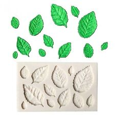 3D Leaves Silicone Mold Fondant Chocolate Cake Decorating Soap Baking Mould DIY