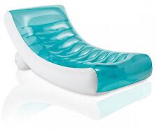 Chaise longue de piscine GHOST bleu gonflable -Dim : 188 x  99 cm
