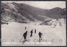GENOVA SANTO STEFANO D'AVETO 07 SCI SKI SPORT Cartolina FOTOGRAFICA viagg. 1952