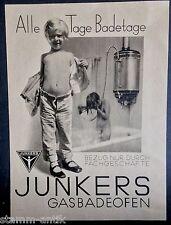 Junkers Gasbadeofen,Badeofen,Dessau,orig.Anzeige 1930