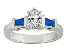 0.51 Carat Oval Brilliant Cut Diamond Engagement Ring