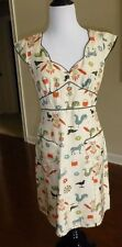 Anthropologie Nanette Lepore RARE Farm animals Shift Dress, Madmen style, Size 4