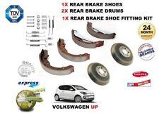FOR VOLKSWAGEN VW UP 1.0 2012>NEW 2x REAR BRAKE DRUMS + SHOE SET + FITTING KIT
