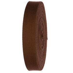 """Heavy Duty Canvas Webbing Roll 1.25"""" Width Strap for Belts, Bags, Crafts"""