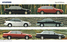 1991?1992 HYUNDAI SPECIAL EDITION Brochure/Catalog: EXCEL,SCOUPE,SONATA,V-8, SE