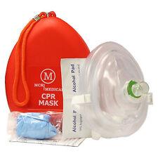 Adult/Child Size CPR Pocket Resuscitator Rescue Mask, MCR Medical CPR Face-Mask