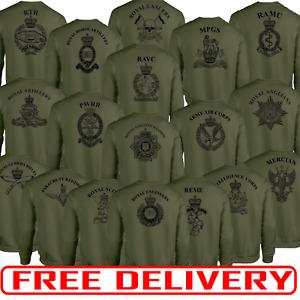 Double Side Print Army Olive Green sweatshirt HM RTR Para REME RGR RAMC RE PWRR