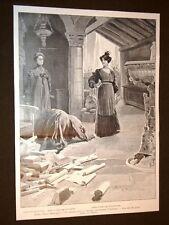 Milano nel 1905 Teatro Manzoni Fiaccola sotto il moggio di D'Annunzio + Tabacchi
