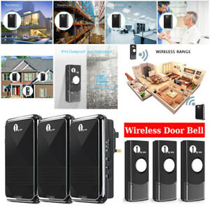 1byone 1000ft Wireless Door Bell Home Doorbell Plug-in Easy Chime Button 36Chime