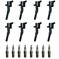 Set of 8 Ignition Coils + 8 Bosch Spark Plugs For 2001-03 Ford F-150