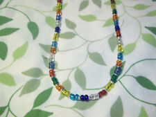 Handmade MULTI COLOR 15 inch Beaded NECKLACE CHOKER C-18 by Quality Jewelry