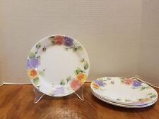 "5 CORELLE Summer Blush Pansy Bread Dessert Salad Plate Corning 7 1/4"""