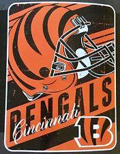 """Cincinnati Bengals NFL CASCO LOGO 46 """"X 60"""" Soft Coperta in pile"""