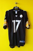 🏈 PITTSBURGH STEELERS # 17 MIKE WALLACE NFL JERSEY MENS - L