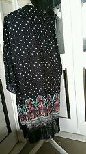 Size 24  flowers Kimono Jacket /Beach Cover Up Short Sleeve Fringe new
