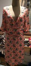COLLETTE DINNAGAN Special edition 1 of 178. SILK orange/cream floral dress 10/12