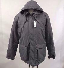 Globe Men's Puffy Parka Hooded Jacket Clayton Grey Size M NWT Faux Fur Sherpa