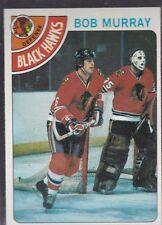 1978-79 TOPPS HOCKEY BOB MURRAY #89 BLACK HAWKS NMMT/MINT *54795