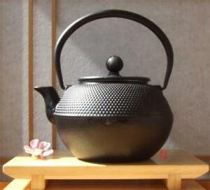 Tetsubin Japanese style Cast Iron black hobnail tea pot kettle 1.2L