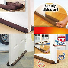 Twin Door Draft Dodger Guard Stopper Dustproof Under Draught Excluder US Stock