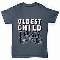 Twisted Envy Boy's Oldest Child I Make The Rules Funny Cotton T-Shirt