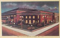 Vintage Auditorium Milwaukee Wisconsin Postcard