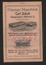 GÖPPINGEN, Werbung 1912, Carl Scholl Magnet-Fabrik Elektro-Magnete