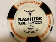 Harley Poker Chip  RAWHIDE HD     OLATHE, KA     WHITE ns