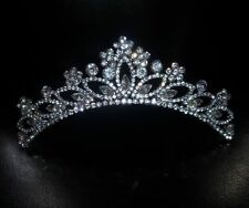 MINAS Stunningly Elegant Antique Silver Crystal Bridal Tiara