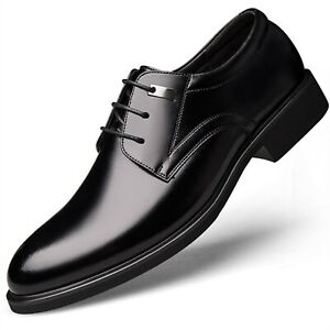"""Men's Invisible Insole Height Increasing Elevator Oxfords Dress 2.3""""Taller Shoes"""