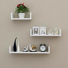 3-Tier Corner Shelf Floating Wall Mount Shelves Storage Rack Display Decor White