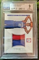 2014-15 Joel Embiid National Treasures Rookie RC 2 Colour Patch 57/99 BGS 9 MVP!