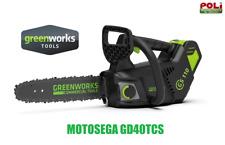 MOTOSEGA ELETTROSEGA A BATTERIA GREENWORKS GD40TCS 40V POTATURA PROFESSIONALE