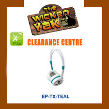 iFrogz EarPollution Toxix Lightweight Headphones Big Bass EP-TX TEAL- NEW!