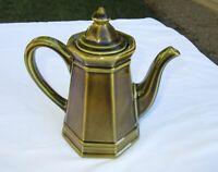 """Pfaltzgraff Heritage Tea Pot 8"""" Green Coffee, 550H USA 4 cup"""