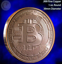 2014 Bitcoin Copper Round 1 oz .999 Very Limited and Rare