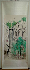 Excellent Chinese 100% Hand Painting & Scroll Landscape By Wu Guanzhong 吴冠中 WEDL
