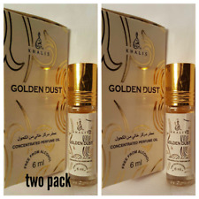Golden Dust 6ml by Khalis Concentrated Perfume oil / Attar 2 bottle popular one