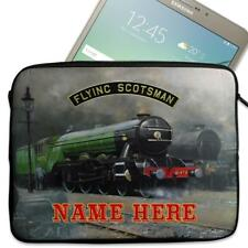 "Personalised Tablet Case FLYING SCOTSMAN TRAIN 1 Sleeve 7"" 8"" 9"" 10"" FST01"