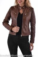New Light Weight Soft Sheepskin Leather Jacket For Women Dharavi EHS WJ- 320