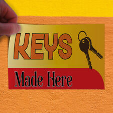 Decal Sticker Keys Made Here #1 Business Key Outdoor Store Sign Yellow